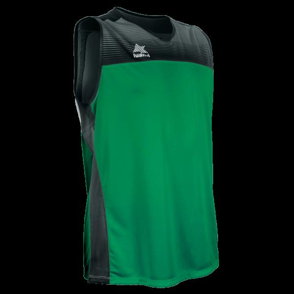 Basket shirt Portland Green-Black