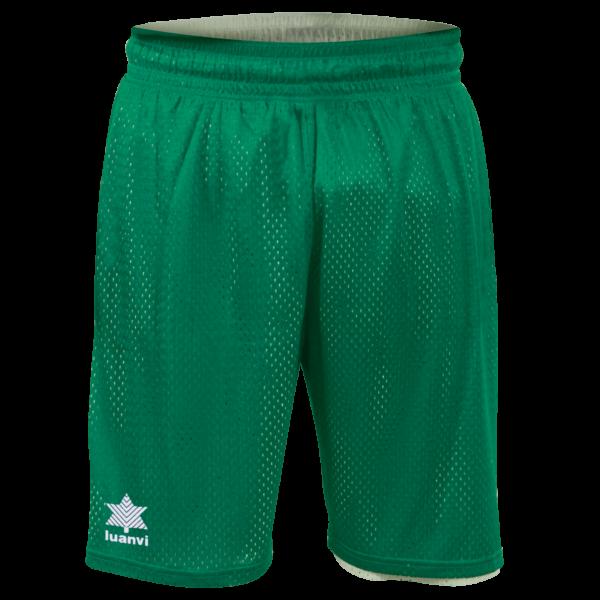 Double face basket bermuda Triple Green-white